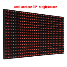 Free ship DHL 50pc p10 led module Red 320*160mm semi-outdoor DIP single colour Red waterproof  Free cable