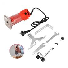 30000 RPM Red Electric Wood Trim Router Machine Clean Cuts Woodworking Tool Set 220V 300W