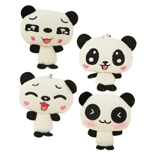 1PC 12cm Kawaii Lover Couple Valentine's Day Gift Novelty Mascot Doll Toy Plush Papa bear Panda Pendant For Mobile Phone Charm(China)