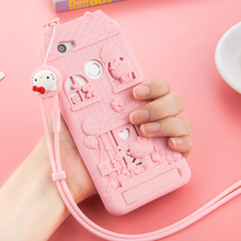 For Huawei Nova/Honor 8/Mate 8 3D Cute Cartoon Fabitoo Hello Kitty Phone Case Soft Silicone Back Cover With Lanyard Stand Holder