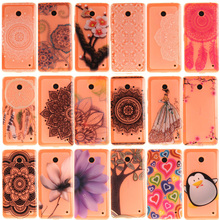 For Nokia Lumia 630 Case Silicone Soft Clear Lucid Transparent Tree Dress Lady Penguin New Cover For Nokia 630 Phone Accessories