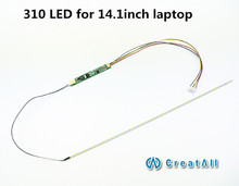 LCD Laptop Dimable LED Backlight Lamps Adjustable Light Update Kit Strip+Board 9-25V Input for 14.1inch 310MM laptop screen