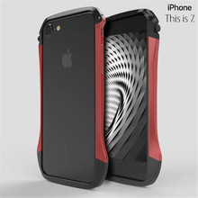 Ginmic Luxury Metal Aluminium Frame Carbon fiber Bumper Case For iphone 7 /6 6S Plus Fashion Curve Small waist Mobile Phone Case