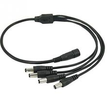 Splitters Cables 1 Female to 4 Male 4 Channel Splitter Power Cable for CCTV Security Camera DVR(China)