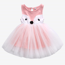 Kids Baby Girls Fox Dress Sleeveless Summer Princess Party Pageant Dresses Toddler  Ball Gown 0-5Y Infant Kid Girl Clothes Child