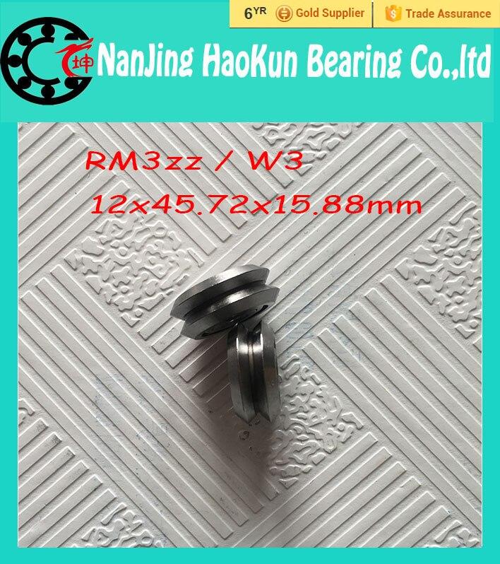 2pcs RM3ZZ / W3 12*45.72*15.88 mm v wheeles W Groove Sealed Ball Bearing<br><br>Aliexpress