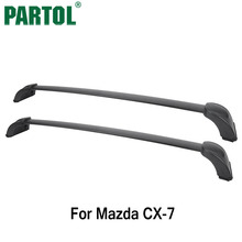 Partol Car Roof Rack Crossbars Luggage/Cargo/Snowboard Carrier Rail Top Box For Mazda CX-7 2007 2008 2009 2010 2011 2012(China)