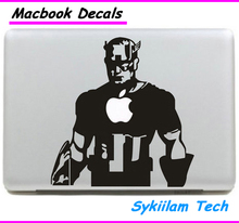 Cartoon Captain America Sticker for apple Macbook Skin Air 11 13 Pro 13 15 17 Retina Decal Computer Auto Wall Vinyl Logo Case