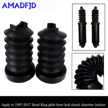Motorcycle modification 1997 - 2017 Road glider Front fork front shock absorber Holster Rubber boot dust cover(China)