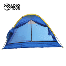 Outdoor Ultralight Camping Tent 4 Person Beach Awning Carpas Trekking Hiking Fishing Hunting UV Blue Tente 200x200x110cm