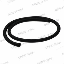 6 AN 6 Universal fuel hose / Oil hose/oil pipe/ fitting hose Kit Stainless Steel Braided hose(black)