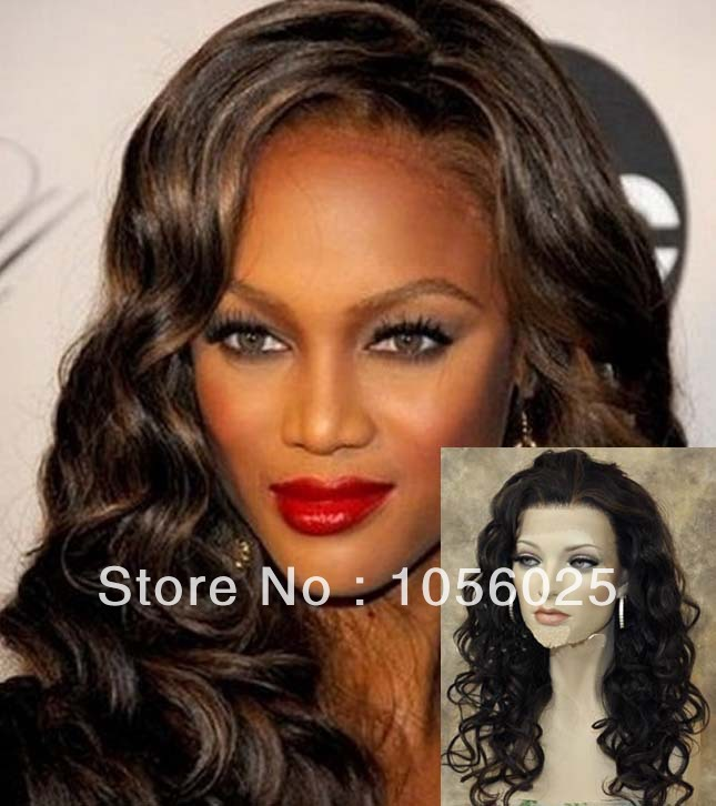 free shipping  kanekalon synthetic ROSE CURL heavy density lace front wig<br><br>Aliexpress