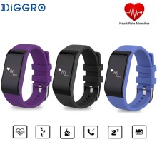 Original Diggro R1 Smart band Bluetooth 4.0 Heart Rate Monitor Sport Fitness Tracker Smart Wristband for Android IOS PK i6 pro(China)