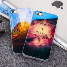 Fashion Lovely Blu-ray TPU Soft protcet cover For iPhone 5 5S SE Cool effects scenery diamond night sky star printing phone case