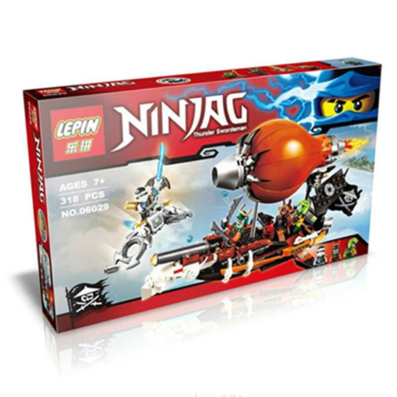 318pcs Ninjagoed Zeppelin Doubloon Clancee JAY Ninja Raid Zeppelin Weapon Building Blocks <br><br>Aliexpress