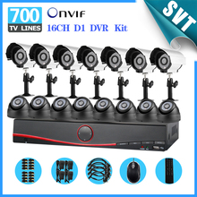 Fast Express 16ch DVR Kit view remotely 700TVL outdoor indoor night vision CCTV video camera system home security SNV-73