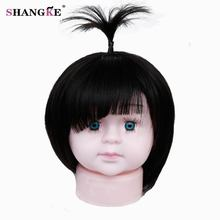 SHANGKE Short Children Wig Bob Hair Wigs For Children Heat Resistant Synthetic Fake Hairstyles Hair Pieces(China)
