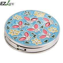 EZLIFE Mini Foldable Folding Table Handbag Hook Purse Tote Flower Shape Metal Bag Table Hanger Holder Decoration for Home MS196