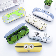 20style Multiple Cartoon Cute Multicolor Deer Fruit Pattern PU Leather Glasses Case Metal Optical Eyewear Glasses Box for Gift