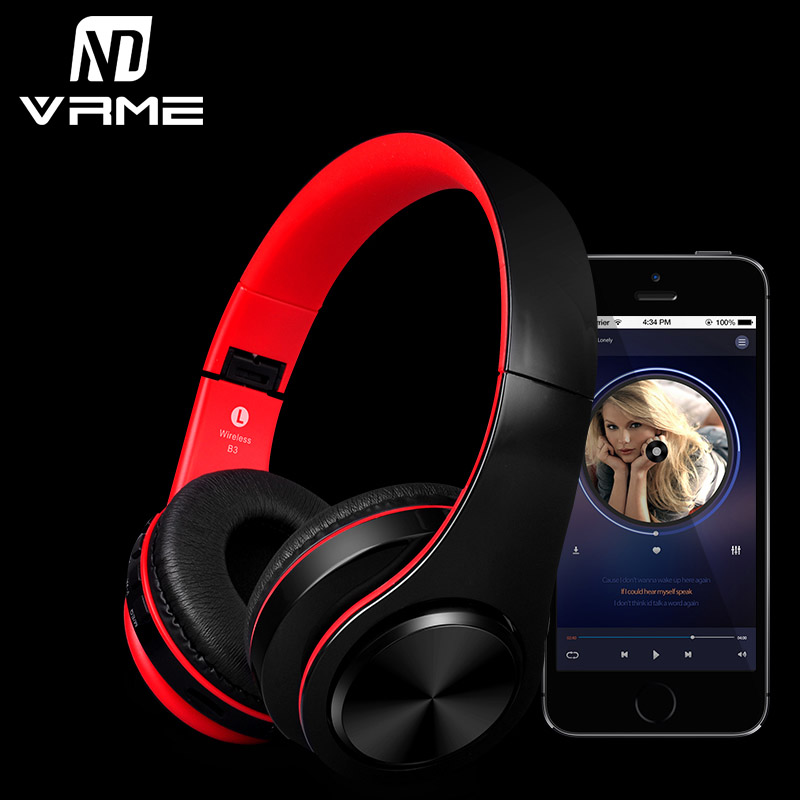Wireless Bluetooth Headphone Bass Stereo Headset Game Sport Earphone With Microphone Support TF Card for iPhone 7 Samsung Xiaomi<br>