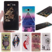 Fashion Print Soft TPU Cell Phone Case Cover For Samsung Galaxy A3 A5 A7 A8 2015 Back Protective Phone Bags