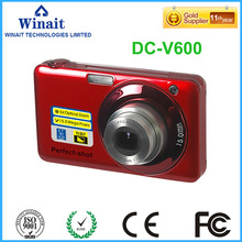 Free Ship 15MP Cheap Disposable Digital Camera With 2'' Inch 5X Optical Zoom 4x Digital Zoom Anti-shake Photo Camera