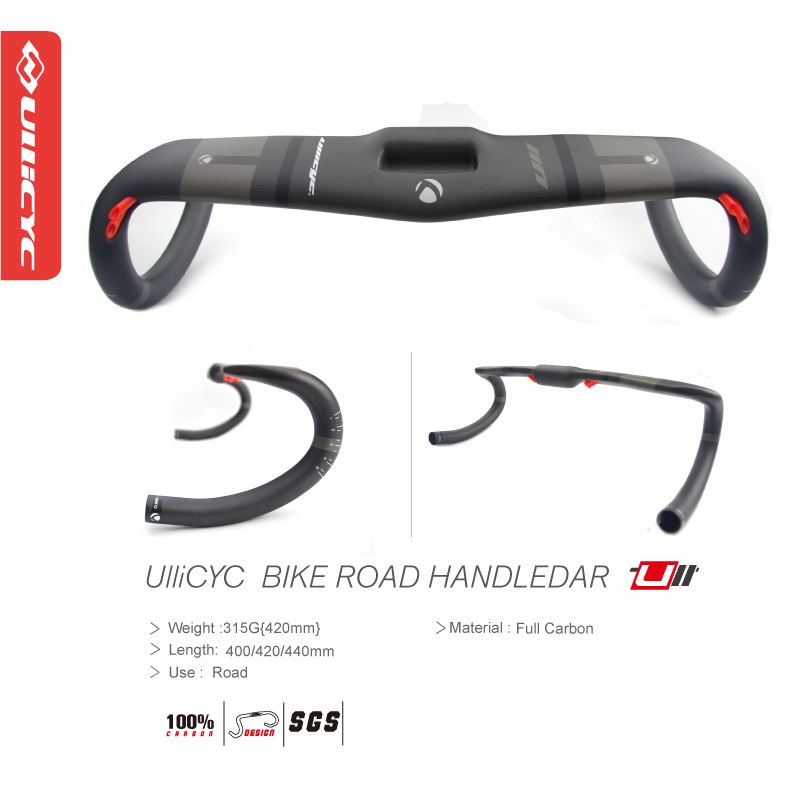 ULLICYC Carbon Fibre Bicycle Handlebar Road UD Full Carbon Bike Handlebar Road Bike Parts 31.8*400/420/440mm Free Ship  WB672<br>