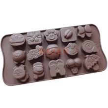 silicone cake mold chocolate molds 15 figure mixed Christmas cake decorating tools SICM-115-26