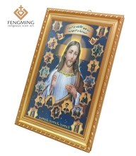 Catholic icon  wholesale religious wall decoration jesus Christ byzantine art plastic photo frame artwork