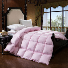 Three colors winter  Warm silky 95% Goose down comforter king queen full twin size quilts