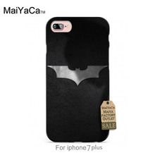 Silicone case Silver Batman cartoon black Colourful Style Design   Cell phone case For case  6 6plus 7 7plus