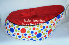 COVER ONLY, NO FILLINGS -Comfort Cool rainbow sunshine dots Baby Beanbag Baby Seat Baby Bean Bag/Chair No beans