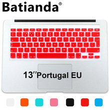 Portugal Euro Version layout Silicone UK/EU Keyboard Protector Cover Stickers Skin For Macbook Air 13 Pro 13 15 17 Retina(China)