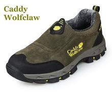Caddy Wolfclaw 2016 Autumn winter hiking shoes fur warm outdoor sport men sneakers slip suede leather male - SUM-Shoes store