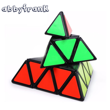 Abbyfrank Pyramid Magic Cube Pyraminx Speed Puzzles Magic Cube Game Triangle Shape Cubos Magicos Puzzle Learning Educational Toy(China)