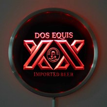 rs-a0042 DOS EQUIS Beer LED Neon Round Signs 25cm/ 10 Inch - Bar Sign with RGB Multi-Color Remote Wireless Control Function(China)