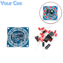 Round Electronic Lucky Rotary Suite CD4017 NE555  Self DIY LED Light Kit Production Parts and Components New