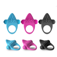 Buy Silicone Dual Clitoral Vibrator Vibrating Penis Ring Reusable Cock Ring Stretchy Delay Penis Rings Sex Toys Couples Sex Shop