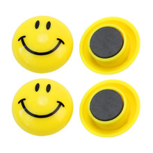 6Pcs Round Cartoon Smile Face Style Refrigerator Sticker Fridge Magnets DIY Decoration Home Decor