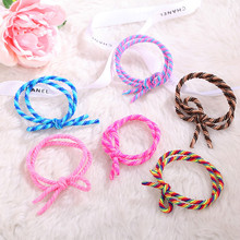 fashion Retro punk hairbands girl ponytail holder head rope manual bow tie bun Rubber headwear Women gift Hair Accessories 30048