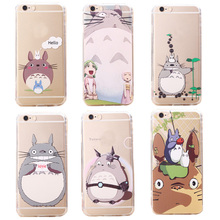 YRFF Newest Cute Totoro Phone Case cover For iphone 5 5s 5g 6 6s Cartoon soft back case cover for iphone 5s 6 6s 4.7