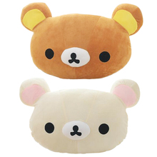 1pc 50*30cm Cartoon Rilakkuma Bear Plush Pillow Large Stuffed Sofa Cushion Easy Bear Relax Bear Pillow Children Gift(China)