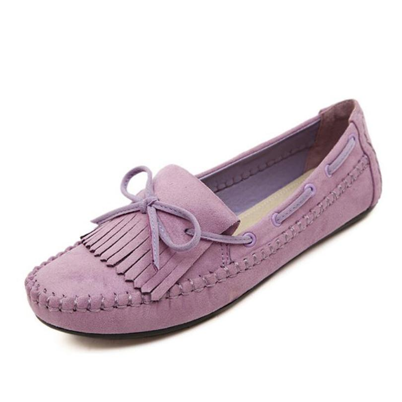 Casual Women Flats Shoes Tassel Driving shoes Bow Knot Candy Color Loafer Shoes Soft Bottom Pregnant Woman Shoes Plus Size<br><br>Aliexpress