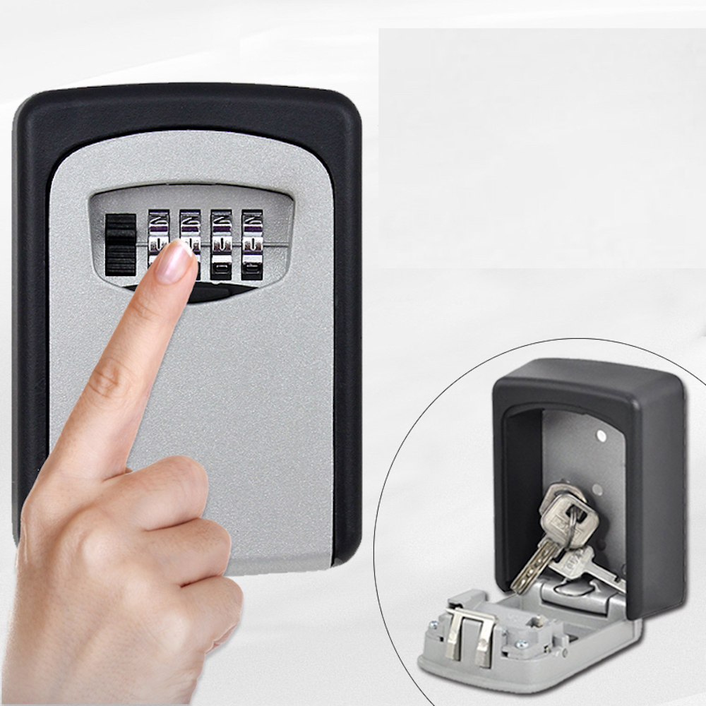 Custom Made Wall Mounted Key Storage Compartment Organizer 4 Digit Combination Password Entry Door Easy Access Decorator<br>