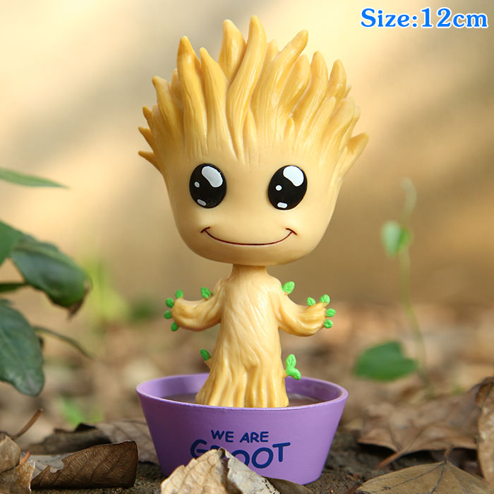 Guardians Of The Galaxy Cosplay Groot 12cm/4.7 Q Version Boxed Action Figures Toys Model Garage Kit<br>
