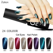 Zation Magnetic Bling Gel Polish Primer Color Change Nail Polish Magnet Nail Gel Glitter Varnish Chameleon UV Gel Lacquer Enamel(China)