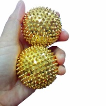 1 Pair Massage Hand Ball Body Acupressure Magnetic Spiky Massage Acupuncture Pain Ball