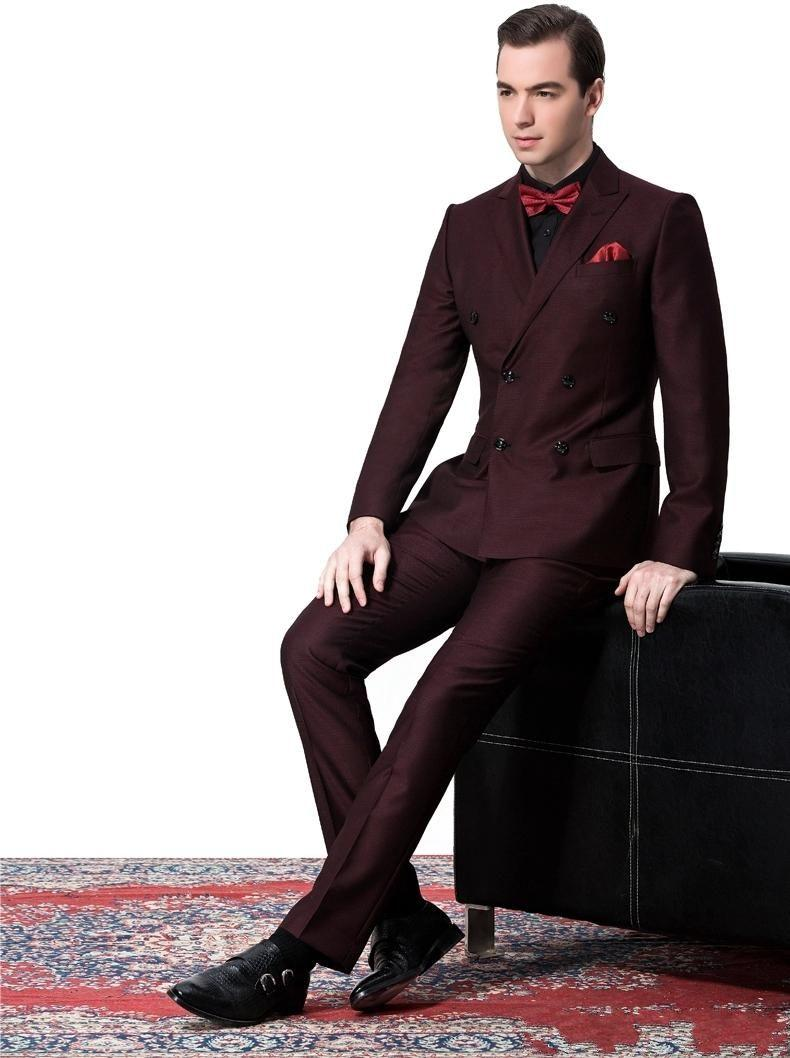 High Quality Burgundy Mens Suits Prom-Buy Cheap Burgundy Mens ...