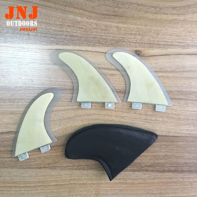 Super Strong Honeycomb Fiberglass FCS Fins with bamboo veneer/ sup FIN / surfboard FIN/ G5<br><br>Aliexpress