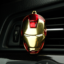Hot Iron Man Captain America shield Car outlet perfume original auto perfumes Air Freshener Car Air Conditioning Vent Clip NEW